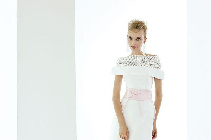 Collezione EP 2014 - Elisabetta Polignano: abito in mikado di sera, duchessa di seta, pizzo macramè e organza di seta   #wedding #weddingdress #weddinggown #abitodasposa