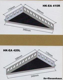 Edelstahl Eckablage für Dusche u. Bad befliesbar f. Fliesen Dreieck 170/300mm - Vorschau 3