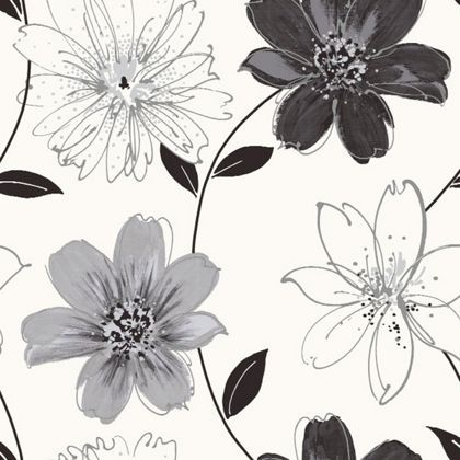 22 best wallpaper and paint images on pinterest bathrooms bedroom arthouse 406004 wallpaper black and silver floral wallpaper white and black floral wallpaper large black and white floral wallpaper mightylinksfo