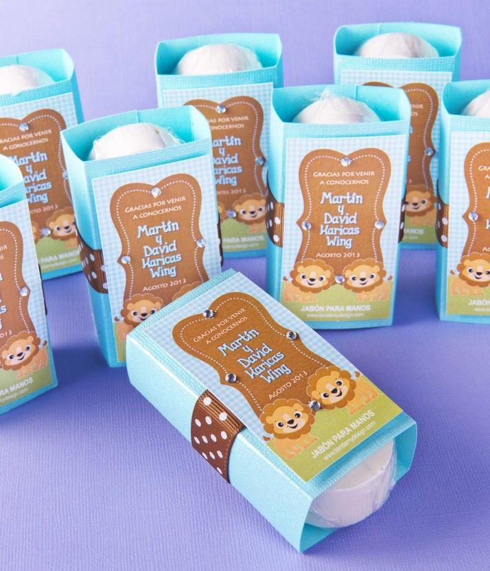 Jabón  Tema de Animalitos  Recordatorios de Nacimiento