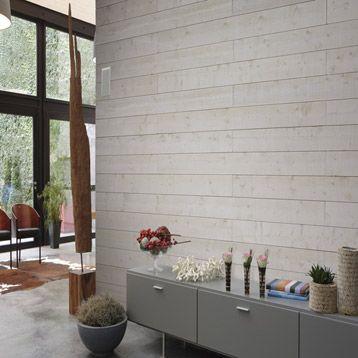 Lambris bois sapin brut de sciage blanc ARTENS, 205x18cm ep. 16mm