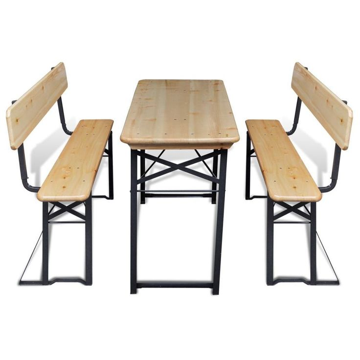 Foldable Beer Table And Bench Set Garden Barbecue Pic Nic Dining Set Outdoor Uk  sc 1 st  Pinterest & 191 best Garden Furniture images on Pinterest | Garden furniture ...