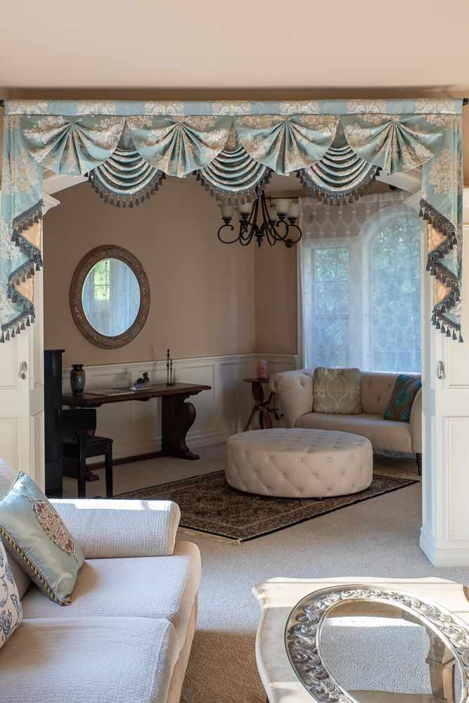 Paris Salon Swag Valances Curtains Glacial Swan Living Room Decor Curtains Elegant Curtains Curtain Styles #unique #curtains #for #living #room