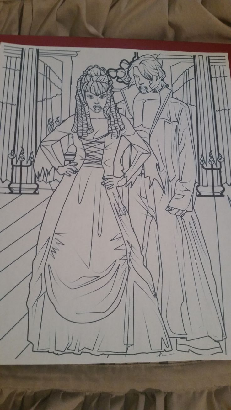 Our Coloring Page of the Week: Lilith and Pellegrino ...