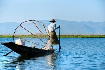 Inle-søen i Burma