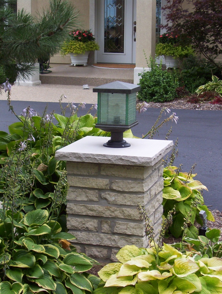 Driveway Pillar Lights : The best images about driveway pillar lights on