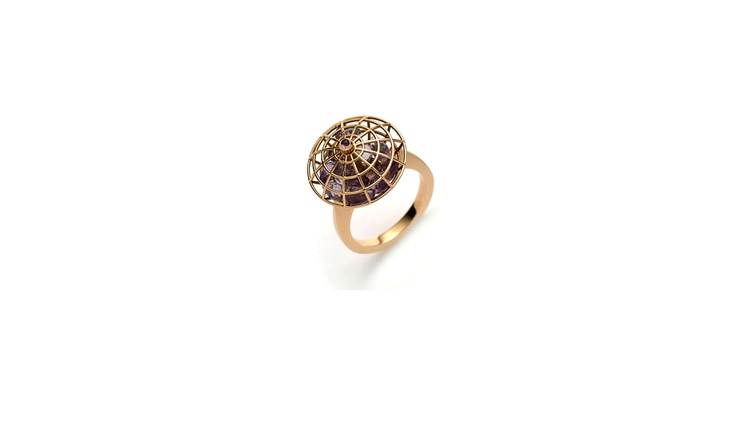 Victoria Tryon - Amazon Rose Gold Amethyst Ring
