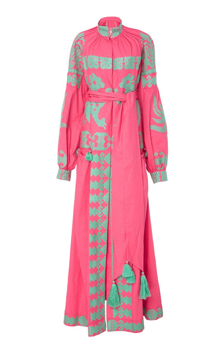Embroidered Queen Of The Sun Long Dress by YULIYA MAGDYCH Now Available on Moda Operandi