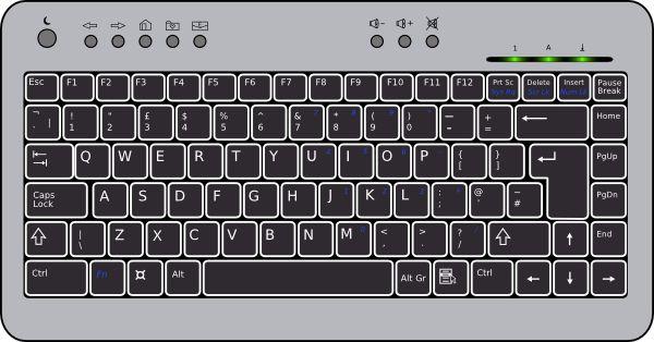Compact Computer Keyboard