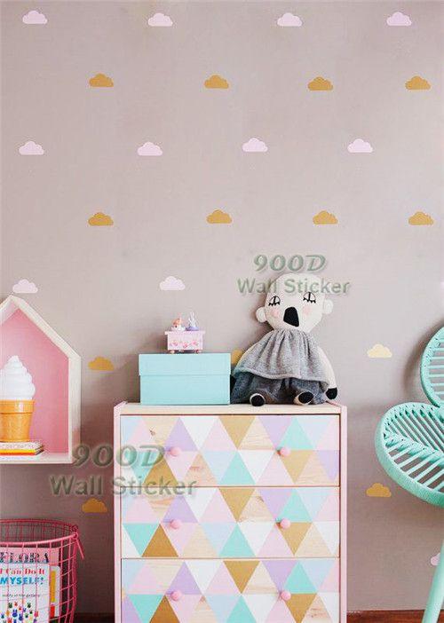 Ouro nuvem adesivos de parede DIY decoração Wall Art Decor Wall Decal DQ1447 em Papéis de parede de Casa & jardim no AliExpress.com | Alibaba Group
