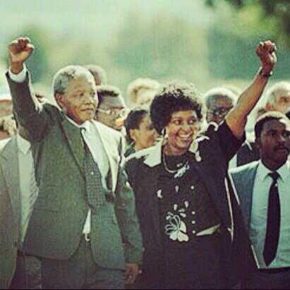 Nelson & Winnie Mandela (1990)