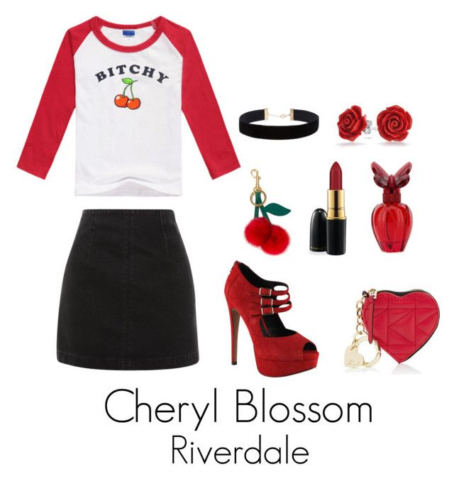 """""""Riverdale"""" by sparkle1277 ❤ liked on Polyvore featuring Topshop, ALDO, Bling Jewelry, Eloquii, MAC Cosmetics, Anya Hindmarch, Karl Lagerfeld and Mariah Carey"""