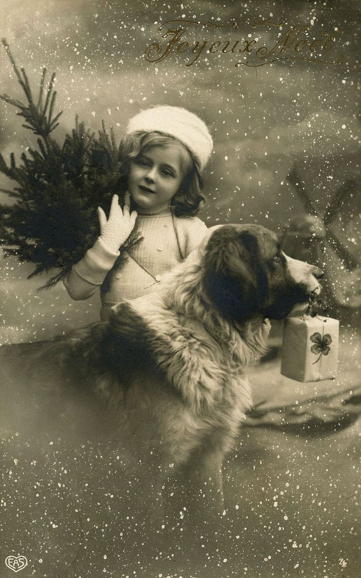 Ретро фото с рождеством