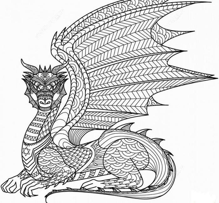 Hard Dragons Coloring Pages Dragon Coloring Page Mandala Coloring Pages Coloring Pages