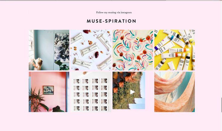 Tess Guinery | Website Instagram Feed Design