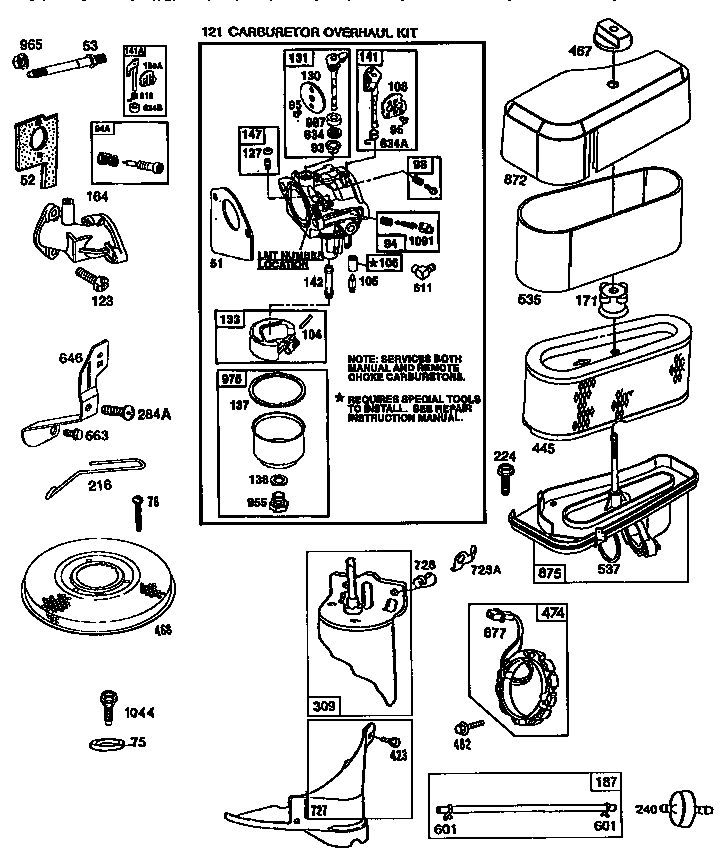 briggs  u0026 stratton engine briggs and stratton parts
