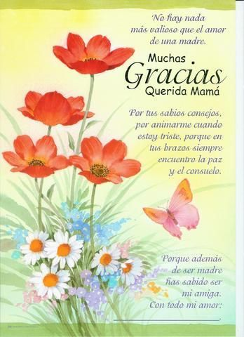27 best da de la madre images on Pinterest  Cards Children and