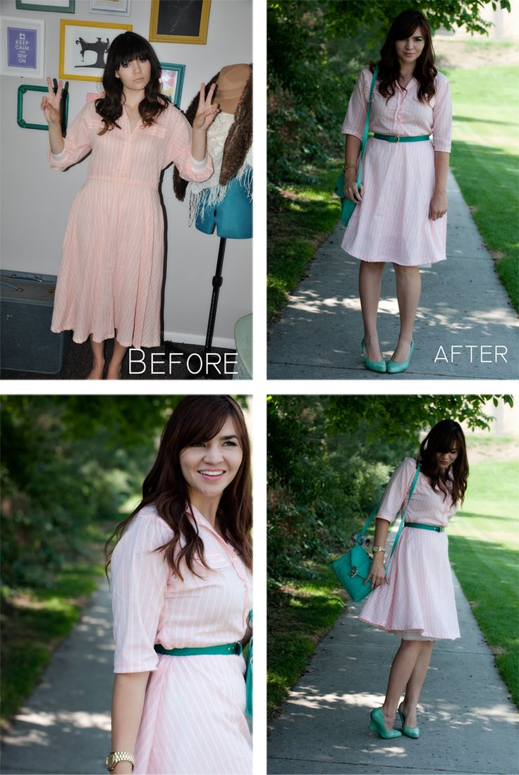 Thrifted dress refashion tutorial