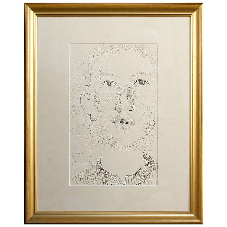 Self Portrait by Ragnar Sandberg | From a unique collection of antique and modern drawings at http://www.1stdibs.com/furniture/wall-decorations/drawings/