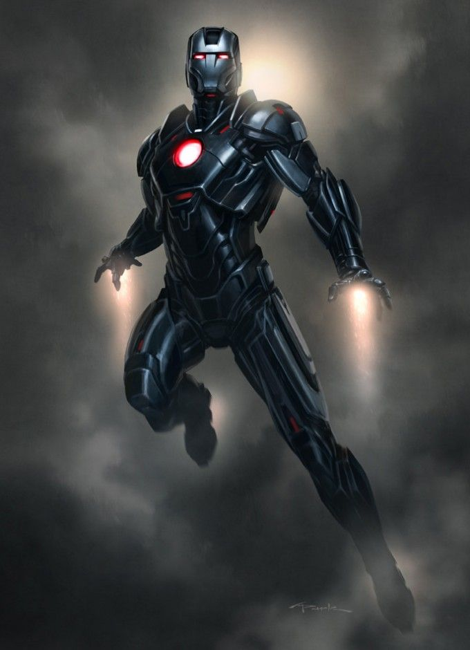 Iron Man 3 Armor Concept Designs by Andy Park - Mk XVI ...