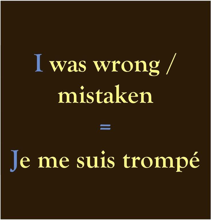Et oui, ça m'arrive ... French