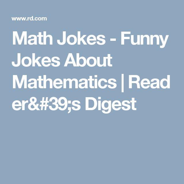 Math Jokes - Funny Jokes About Mathematics|Reader's Digest