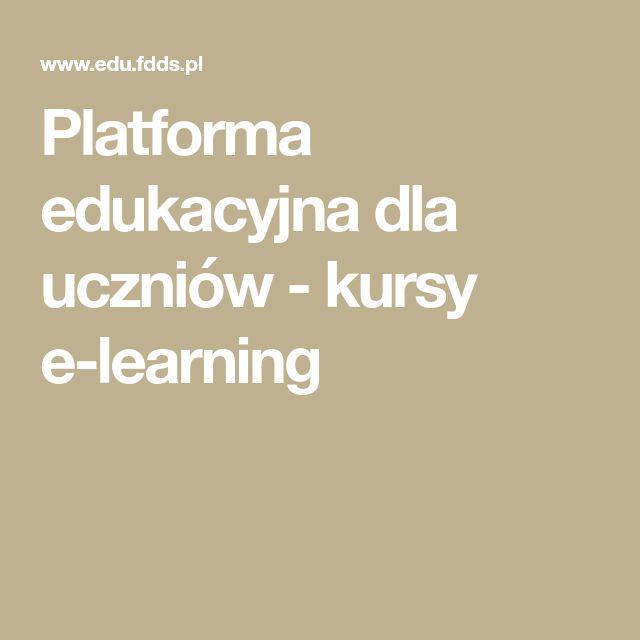 Platforma edukacyjna dla uczniów - kursy e-learning
