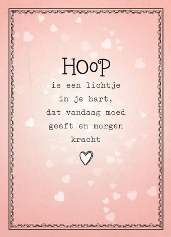 Iemand een hart onder de riem steken in een moeilijke tijd? Stuur een kaart met woorden van troost, zoals deze uit onze collectie herinneringskaarten. #hallmark #herinneringskaarten #hoop #hope