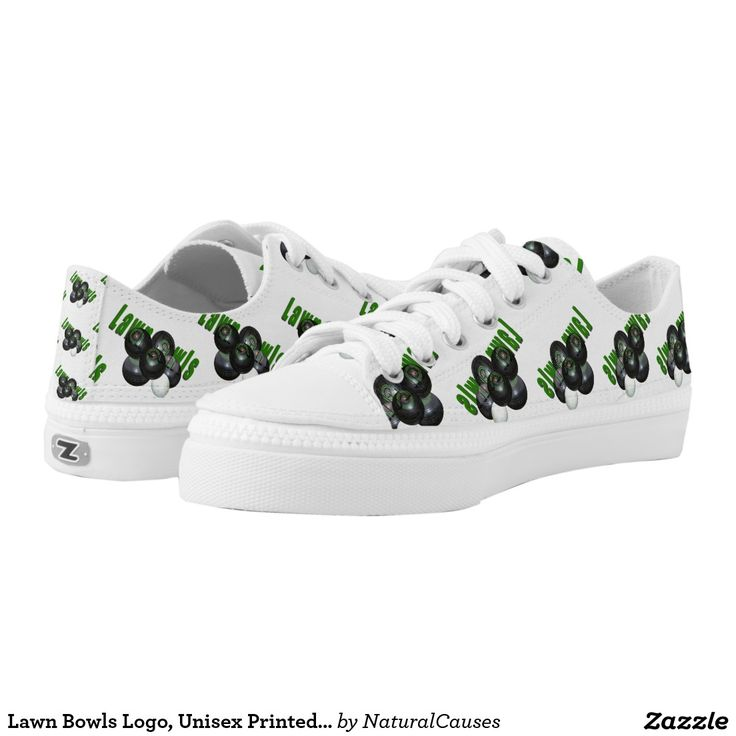 Lawn Bowls Logo, Unisex Printed Lowtops Zips Shoes