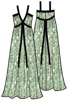Free sewing Pattern for knit fabric summer dress sundress Russian