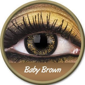 Baby Brown Big Eyes Contact Lenses - buy them at www.youknowit.com #contactlenses #fancydress