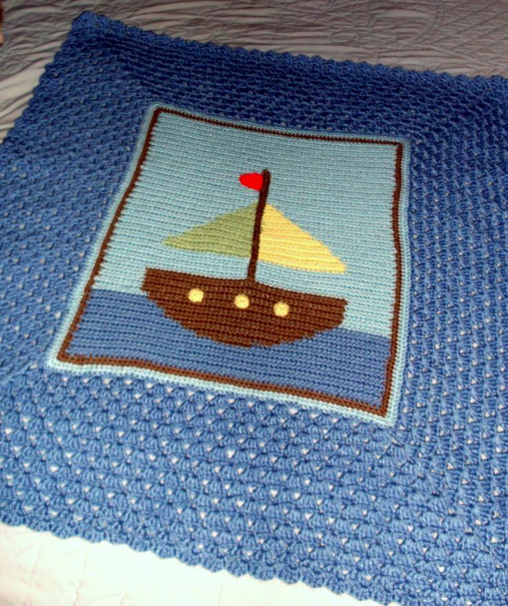 Sailboat Knitting Pattern Baby Blanket : 1000+ images about Crochet blanket on Pinterest Crochet ...