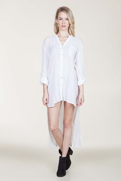 Shirt Dress | white
