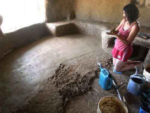making an earthen floor. good to know, maybe for an outbuilding?