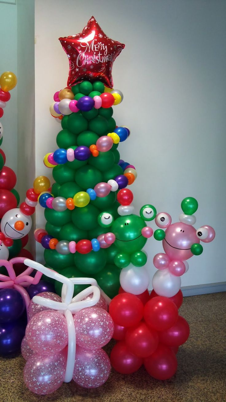 1000 ideas about christmas balloons on pinterest for Beautiful balloon decorations