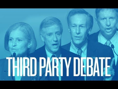 2012 Third Party Debate -- Jill Stein (Green Party), Rocky Anderson (Justice Party), Gary Johnson (Libertarian Party), and Virgil Goode (Constitution Party)