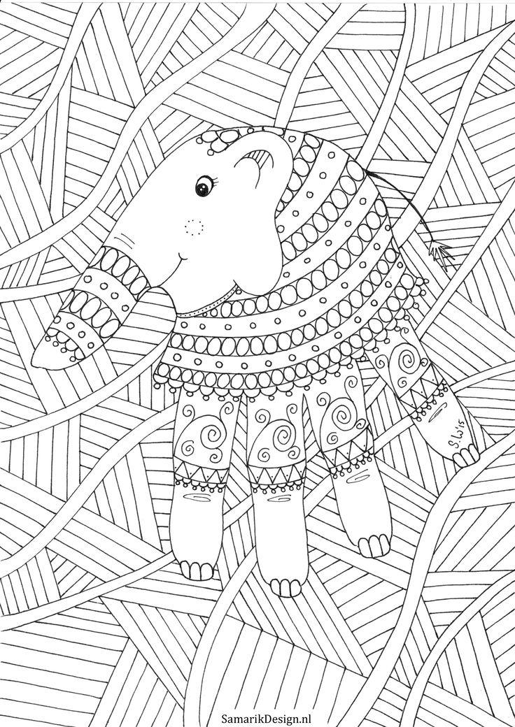 Kleurplaat Voor Volwassenen Elephant Doodles ZentanglesColoring PagesColouringElephantsArt