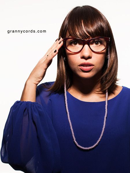 Thatiana wearing Rose from our first collection - www.grannycords.com.