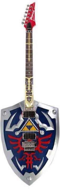 Zelda inspired guitar. This has to be my favorite guitar of all time.