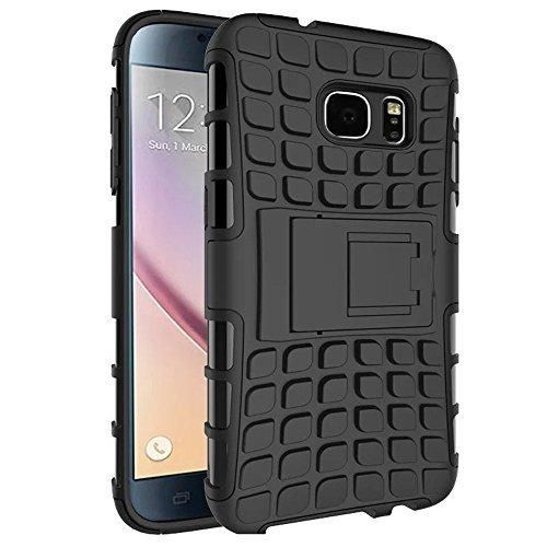 Galaxy S7 Case MoboZx [Premium Dual Layer] [Rugged Shield  Flexible TPU] Protective Heavy Duty Anti-Slippery Scratch-Resistant Shock-Absorbent Bumper With Kickstand For Samsung Galaxy S7 (Black)