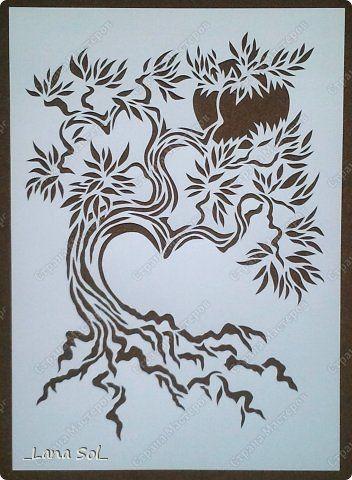 Картина панно рисунок День семьи Вырезание Древо семейного благополучия Бумага…
