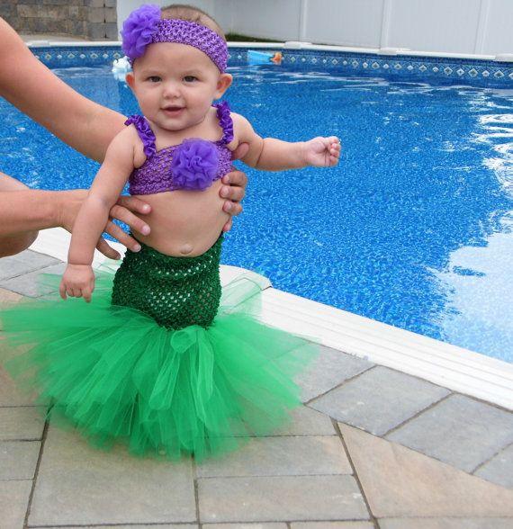 little mermaid tutu halloween costume on etsy 3500 - Baby Mermaid Halloween Costume