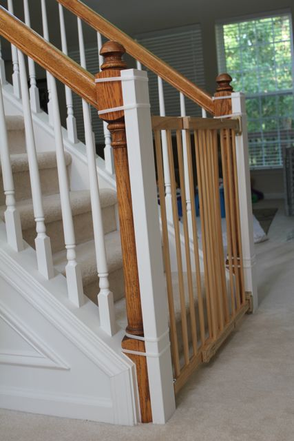 Beauty in the Ordinary: Installing a Baby Gate Without Drilling Into the Banister (Tutorial). What a great idea if you're renting or want to preserve the banister if you're not planning on making this a long-term home! Just be sure to check those zip ties frequently!!