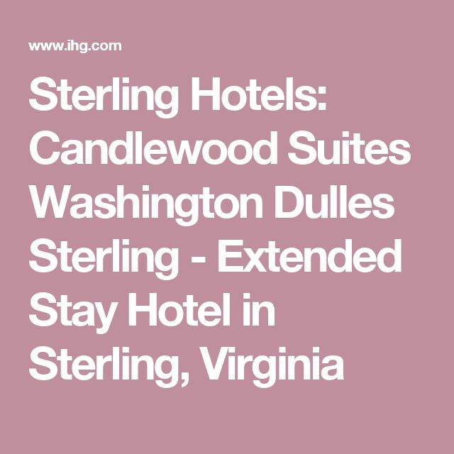 Sterling Hotels: Candlewood Suites Washington Dulles Sterling - Extended Stay Hotel in Sterling, Virginia