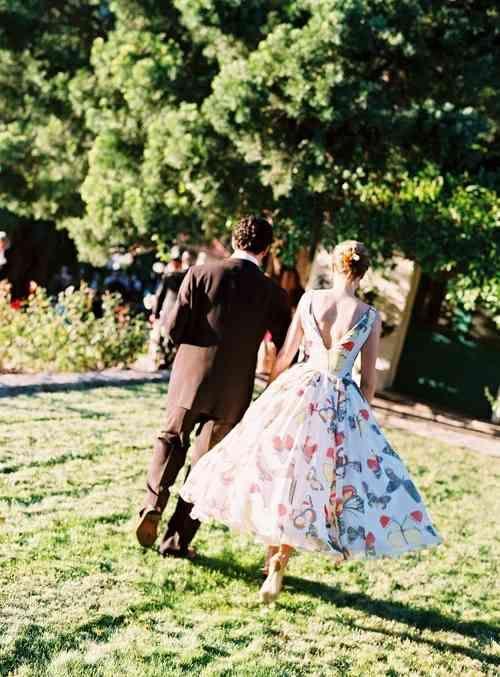 robe de mariée d'inspiration rétro
