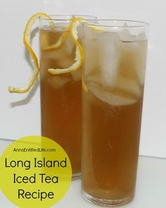 Long Island Iced Tea Recipe; an extremely potent, but very delicious cocktail recipe, the Long Island Iced Tea goes down very, very smoothly.  http://www.annsentitledlife.com/wine-and-liquor/long-island-iced-tea-recipe/