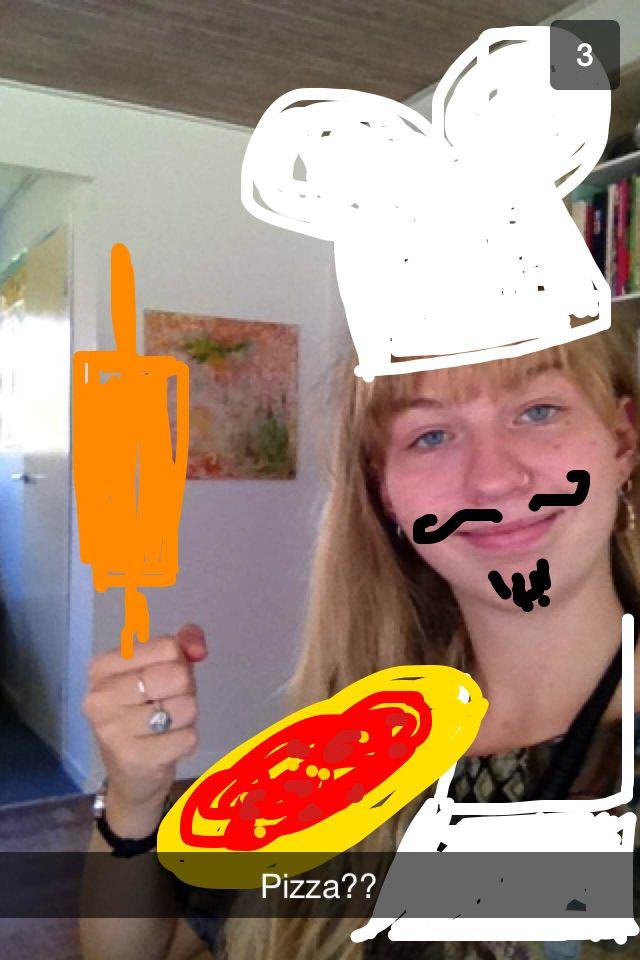 schmutzige Snapchat-Selfies
