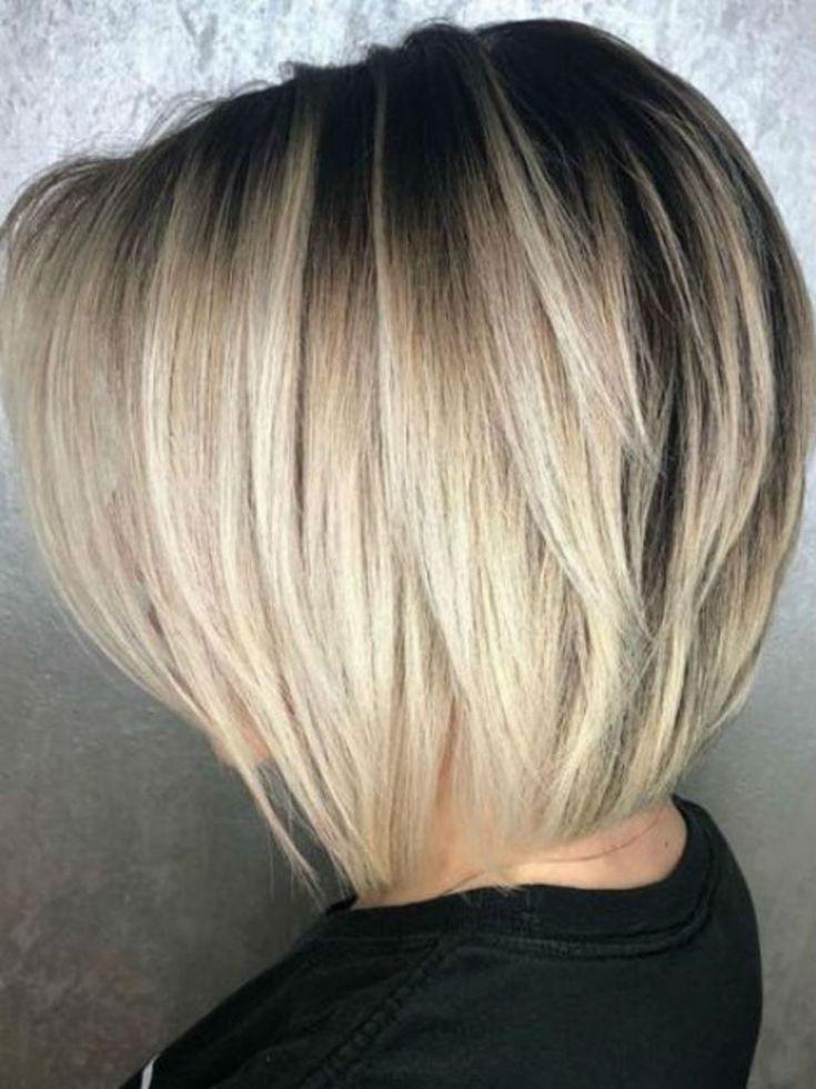 Inspiration coiffure carré plongeant dégradé | Coiffure carré plongeant, Coupe cheveux carré ...