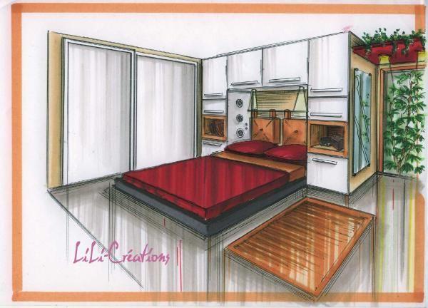 Chambre le blog de elise fossoux croquis pinterest for Dessin chambre en perspective