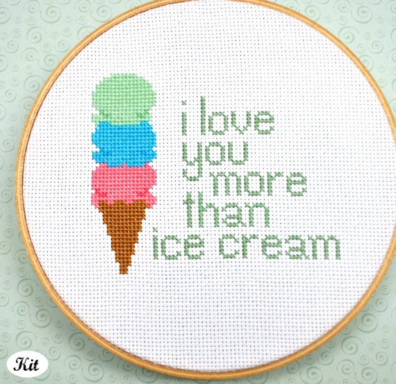 I Love You More Than Ice Cream: 17 Best Images About Amazing Non-WOXS Stitching On